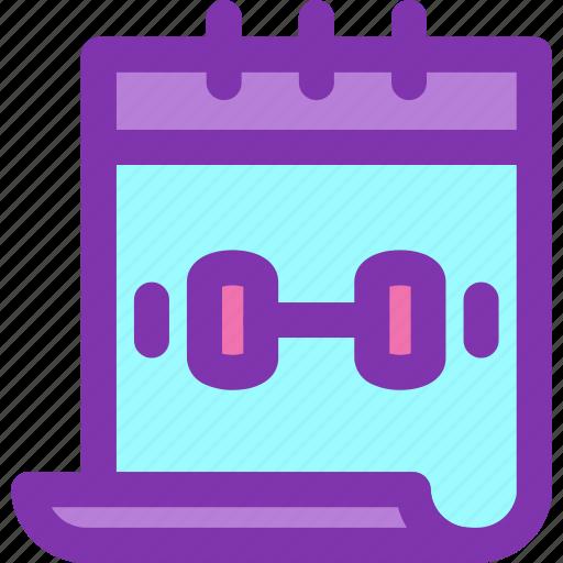Calendar, diet, fitness, gym, schedule icon - Download on Iconfinder