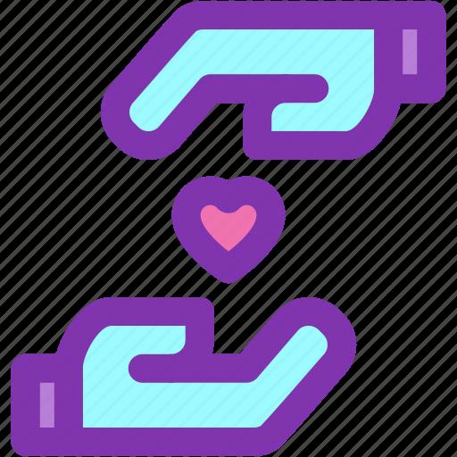 giving, hand, health, heart, love icon