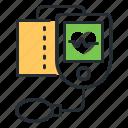 health, medicine, pulse, sphygmomanometer icon