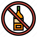 alcohol, diet, drink, no, nutrition icon