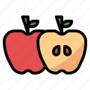 apple, diet, fruit, nutrition icon