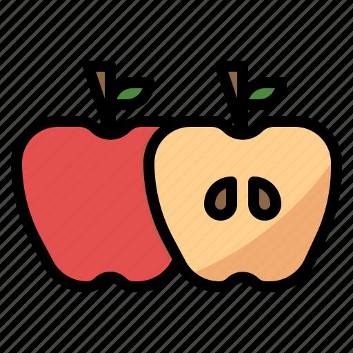 apple, diet, fruit, nutrition icon