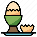 boiled, breakfast, diet, egg, nutrition icon