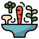 blow, carrot, mushroom, salad, vegetable