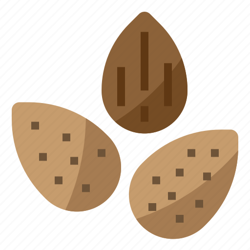 Almond, diet, nut, nutrition icon - Download on Iconfinder