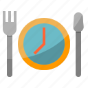 diet, dish, meal, nutrition, time icon