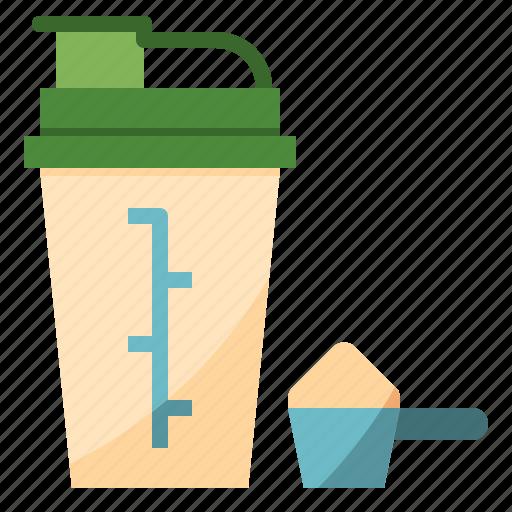 bottle, diet, nutrition, protien, shaker icon