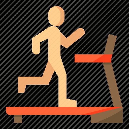 diet, nutrition, run, running, treadmill icon