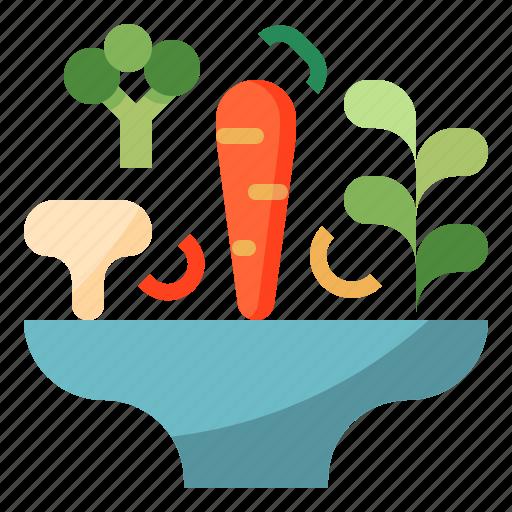 Blow, carrot, mushroom, salad, vegetable icon - Download on Iconfinder