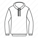 casual, hood, hoody, line, logo, outline, sweatshirt icon