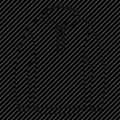 casual, hood, hoody, line, logo, outline, sweatshirt icon