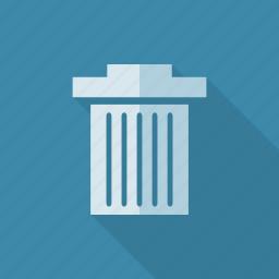 bin, can, delete, eliminate, trash icon