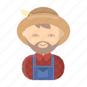 appearance, farmer, image, man, person, profession, rancher icon