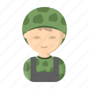 appearance, image, man, military, person, profession, soldier icon