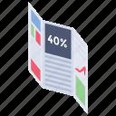 40% discount, advertisement, discount, offer, paper news, sale