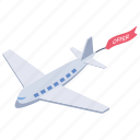 airplane offer, by air offer, by air traveling, travel offer, traveling offer icon