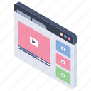 live streaming, online video, video playing, web video, www icon