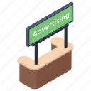 advertisement board, billboard, road board, road sign, sign board icon