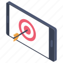 marketing target, objective, online target, target, target audience icon