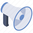 advertising, amplifier, bullhorn, megaphone, pa system, public address system icon