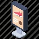 billboard, shoe advertisement, shoe announcement, shoe offer, shoe sale icon