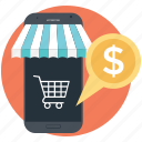 ecommerce, mobile banking, mobile business, mobile commerce icon