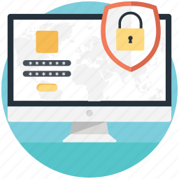 internet safety, online security, web protection, web shield, website safety icon