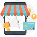 ecommerce, mcommerce, mcommerce app, mcommerce shop, mobile shopping icon