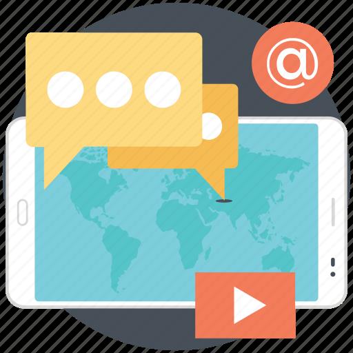 online media, social media, social network, user generated content, virtual communities icon