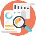 business observation, market analysis, market news, market reporting, market survey icon