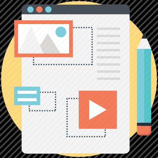 blog management, cms, optimization, seo, web project icon