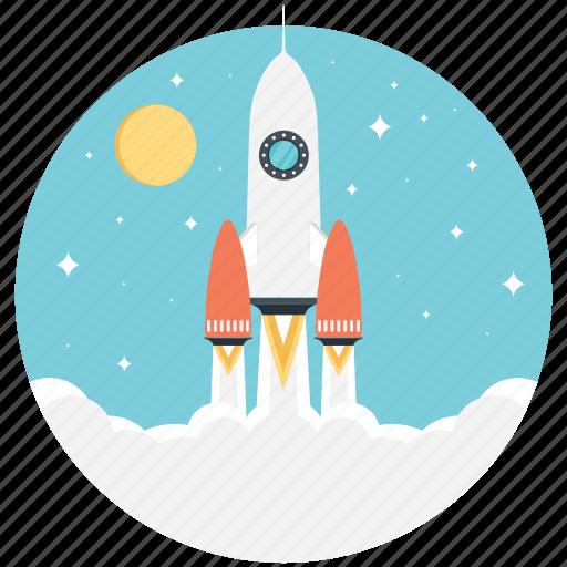 beginning, development, launching, rocket launch, startup icon