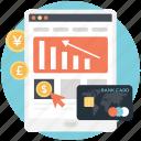 ebusiness, emarketing, ecommerce, market share, internet advertising icon