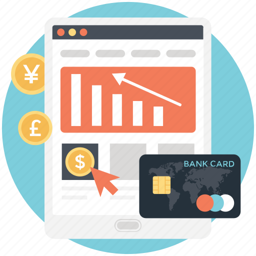 ebusiness, ecommerce, emarketing, internet advertising, market share icon