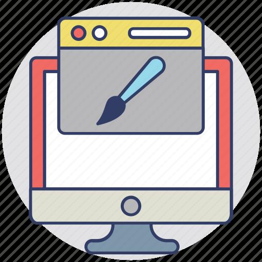 layout design, responsive design, web design, web development, web graphics icon