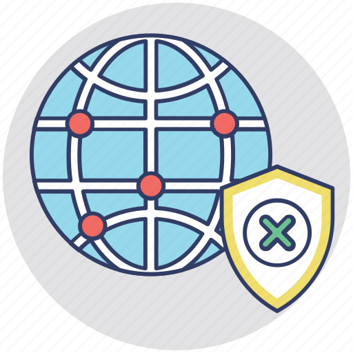 cybersecurity, data security, network privacy, network protection, network security icon