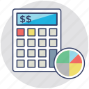 budget, calculating, estimating, evaluating, financial icon