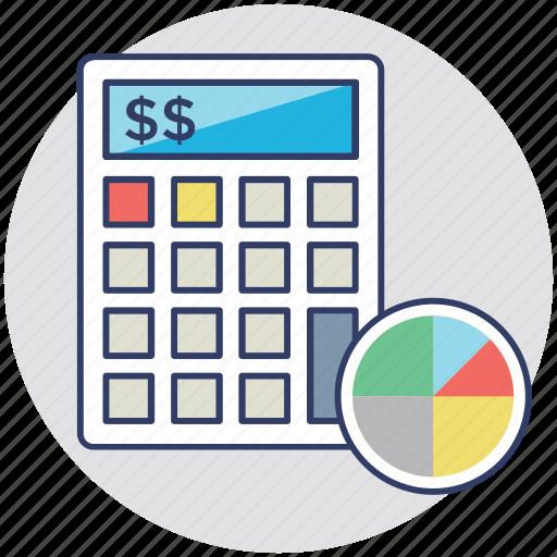 budget, calculating, estimating, evaluating, financial icon