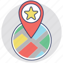 favorite location, favorite place, map location, navigational concept, star map pin