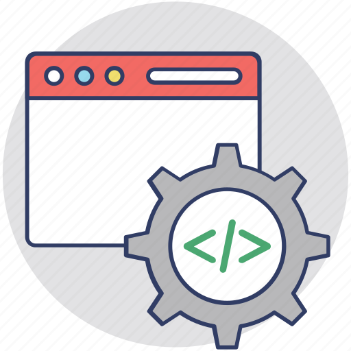 code configure, programming, software configuration, software development, web development icon