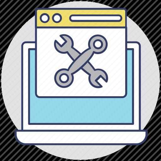 on-page seo, page optimization, page speed optimization, seo process, web development icon