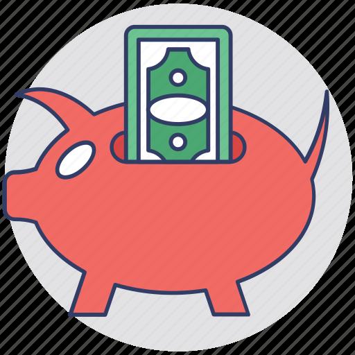 funding, money box, penny bank, piggy bank, saving icon