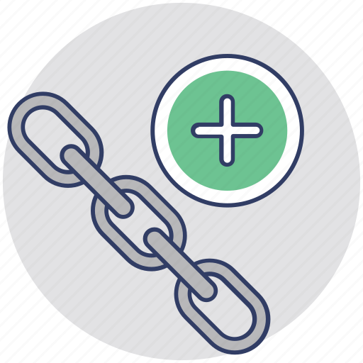 chain link, connection, link building, linkage, seo icon
