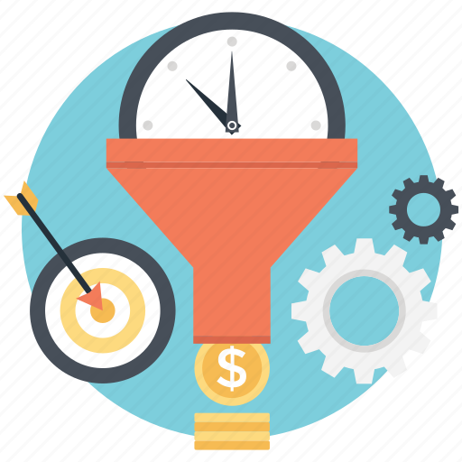 overall benefit, planning, productivity, time is money, time management icon