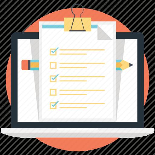 site analysis, site survey, web checklist, website development, website testing icon