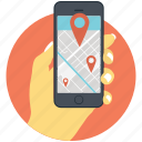 gps, location, map, navigation, site icon