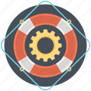 life saver, lifebelt, lifeguard, lifering, support icon