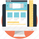 mockup, responsive design, web layout, website template, wireframe icon