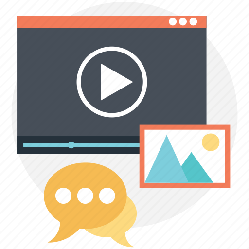 media marketing, video ads, video advertising, video marketing, video selling icon