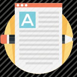 article writing, blog, content development, content writing, copywriting, web content icon